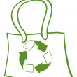 A green recycled bag - Imagen vectorial