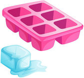 A pink ice tray — Stock Vector