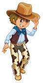 A young cowboy — Stock Vector