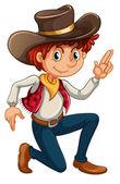A cowboy — Stock Vector