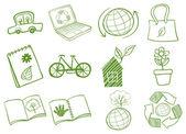 Eco-friendly logo designs — Stock Vector