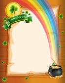 A paper with St. Patrick's symbols — Stock Vector