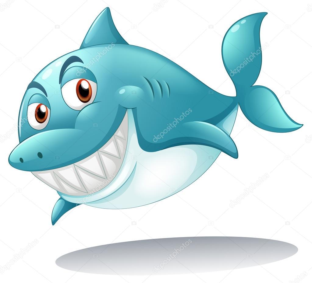 微笑鲨鱼 — 图库矢量图像08
