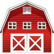 A red barn house — Stockvectorbeeld
