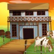 Two cows in the farm — Stock Vector #24581385