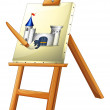 A painting with a paint brush - Stock Vector