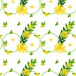 A template with yellow flowers - Stock Vector