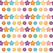 Vector de stock : Flowery wallpaper design