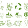 Eco-friendly designs — Stock Vector