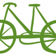 A green bike - Stock Vector
