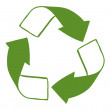 A green recycle sign - Stock Vector