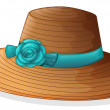 A hat with blue ribbon - Stock Vector