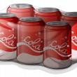 Royalty-Free Stock Obraz wektorowy: A pack of cola cans