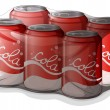 Royalty-Free Stock Vector Image: A pack of cola cans
