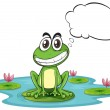 A frog at the pond with empty callout — Stock Vector