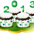 Cupcakes for 2013 - Stock Vector