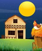 A wooden farm barn — Stock Vector