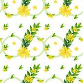 šablona se žlutými květy — Stock vektor