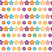 A flowery wallpaper design — Stock Vector