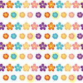 Een bloemetjesbehang ontwerp — Stockvector