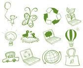 Eco-friendly designs — Stock Vector