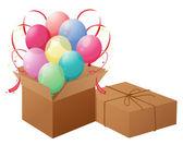 Ballonnen met vakken — Stockvector