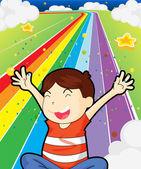 A happy young boy — Stock Vector