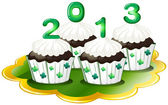 Cupcakes for 2013 — Stock Vector