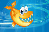 A big orange fish — Stock Vector