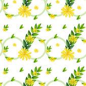 Szablon z żółte kwiaty — Wektor stockowy