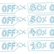 Stock Vector: Discount price tags