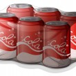 A pack of cola cans - Stock Vector