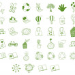 Stock Vector: Different eco-friendly objects