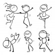 Stock Vector: Different dance moves