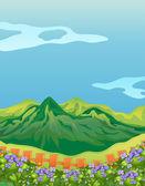 The high mountains — Stock Vector