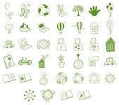 Different eco-friendly objects — Stock Vector