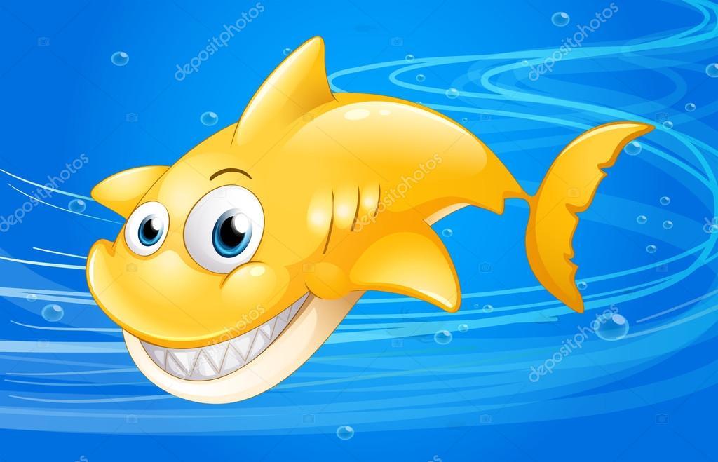 фото желтая акула