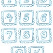 Stock Vector: Numbers inside squares