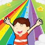 A happy young boy — Stock Vector #24603931
