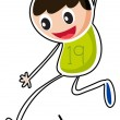 A boy jumping - Stock Vector
