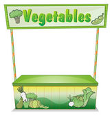 A vegetable stall — Stock Vector
