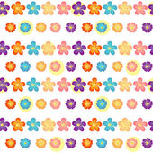 A flowery wallpaper design — Vector de stock