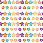 Un diseño de papel tapiz floral — Vector de stock