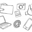 Different kinds of gadgets - Imagen vectorial