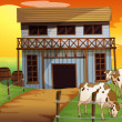Two cows in the farm — Stock Vector #24624285