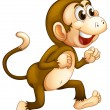 A monkey running — Stock Vector #24929373