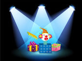 Gift boxes with spotlights — Stock Vector