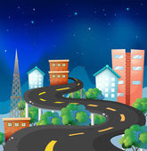A curve road in the city — Stock Vector