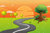 A winding road — Stock Vector