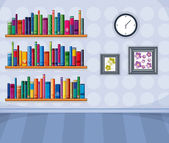 A set of different books — Stock Vector